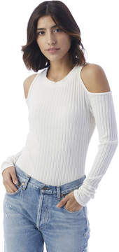 Alternative Apparel NYTT Grace Ribbed Cold Shoulder Bodysuit