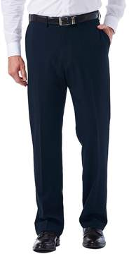 Haggar Men's eCLo Tonal Plaid Classic-Fit Flat-Front Dress Pants