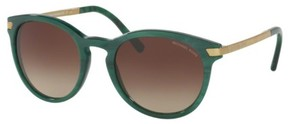 Michael Kors MK2023F Sunglasses 318813-53 - Bottle Green Marble Frame, Smoke Gradient