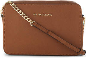 MICHAEL Michael Kors Saffiano leather cross-body bag - LUGGAGE - STYLE