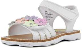 Rachel Shea Toddler Open Toe Synthetic White Slides Sandal.