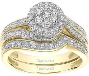Keepsake Forevermore 1/3 Carat T.W. Certified Diamond 10kt Two-Tone Gold Bridal Set