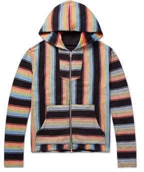 Amiri Baja Striped Cotton Zip-Up Hoodie