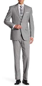 Perry Ellis Gray Plaid Two Button Notch Lapel Modern Fit Suit