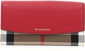 Burberry Porter Wallet - RUSSET RED BEIGE - STYLE