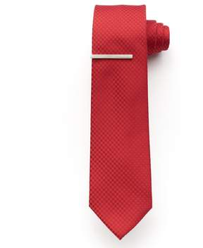 Apt. 9 McVinney Check Tie With Tie Bar