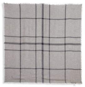 Etro Big Check Modal & Wool Scarf