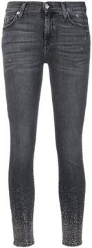 7 For All Mankind sparkle embellished skinny jeans