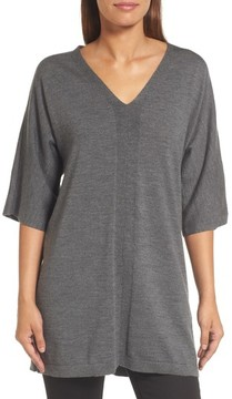 Eileen Fisher Women's Merino Wool Tunic Sweater