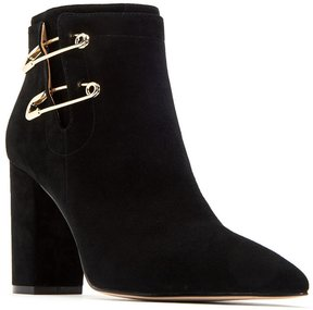 Katy Perry The Eliza Suede Safety Pin Detail Block Heel Booties