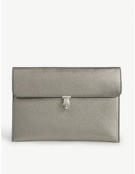Alexander McQueen Leather envelope clutch