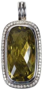 David Yurman 925 Sterling Silver Diamond Embellished Lemon Citrine  Albion Pendant