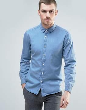 Esprit Denim Shirt in Light Blue Wash
