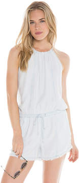 Bella Dahl Seams Halter Romper-Shadow Seams Wash-XS