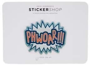 Anya Hindmarch PHWOAR!!! Leather Sticker w/ Tags