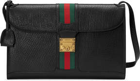 Gucci Leather messenger with Web
