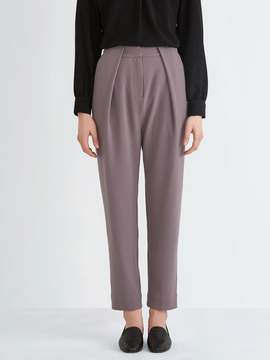 Frank and Oak Drop-Crotch Gabardine Trouser in Dark Lilac