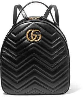 Gucci Gg Marmont Quilted Leather Backpack - Black - BLACK - STYLE