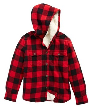 Tucker + Tate Toddler Boy's Buffalo Check Hoodie