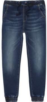 River Island Boys dark blue wash fade jogger jeans