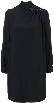 Emporio Armani high neck dress with shoulder patch