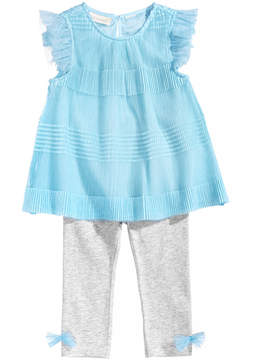 First Impressions 2-Pc. Pleated Tunic & Leggings Set, Baby Girls, Created for Macy's