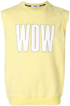 MSGM Wow print sleeveless sweatshirt