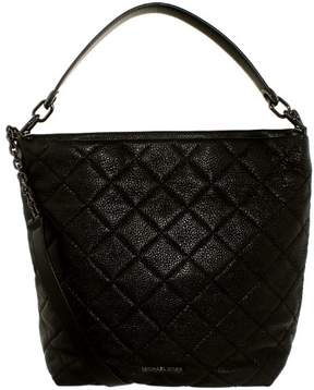 Michael Kors Women's Large Loni Leather Shoulder Bag Tote - Black - BLACK - STYLE