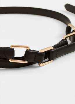 Mango Outlet Appliqué skinny belt