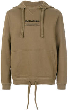 MHI brand embroidered hoodie