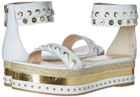 Just Cavalli Calf Leather with Mirror and Rope Women's Sandals