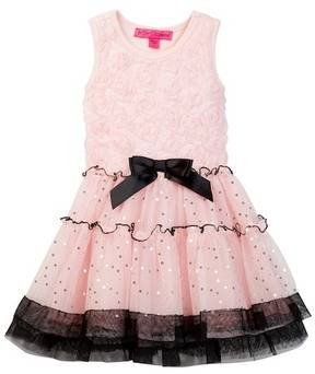 Betsey Johnson Rose Soutache Top & Sequin Disco Dot Tulle Dress (Toddler Girls)
