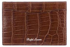 Ralph Lauren Alligator Card Case w/ Tags