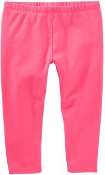 Osh Kosh Girls 4-8 Solid Crop Capri Leggings