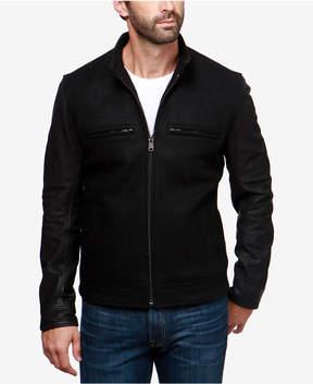 Lucky Brand Men's Leather-Sleeve Jacket