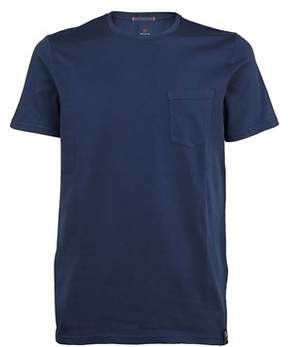 Parajumpers Men's Pmflets01562 Blue Cotton T-shirt.