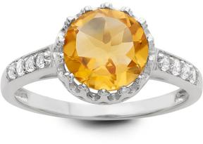 Tiara 2 1/12 CT TW Citrine and Sapphire Polished Silver Fashion Ring
