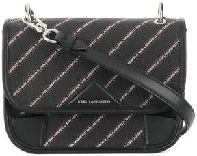 Karl Lagerfeld striped logo shoulder bag