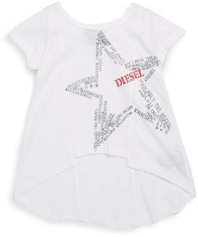 Diesel Girl's Hi-Lo Star T-Shirt