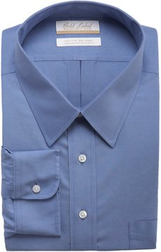 Roundtree & Yorke Gold Label Big & Tall Non-Iron Full-Fit Point-Collar Solid Dress Shirt