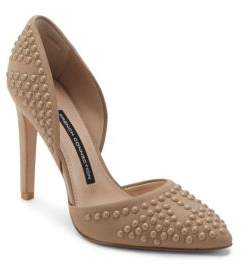 French Connection Maggie Studded Leather Pumps