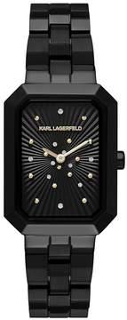 Karl Lagerfeld Paris PARIS Linda Black IP Two-Hand Watch
