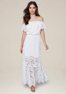 Bebe Britt Lace Maxi Dress