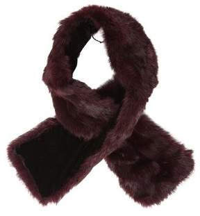 Adrienne Landau Fur Velvet-Lined Scarf
