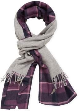 Donni Charm Women's Donni Merge Plaid Wool Scarf, 88 x 18