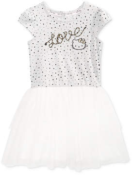 Hello Kitty Evy of California Print Popover Dress, Little Girls (4-6X)