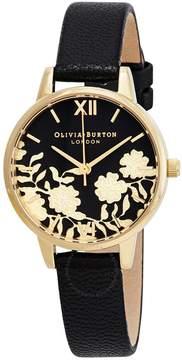 Olivia Burton Lace Detail Black Dial Ladies Watch