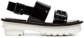 Marni black Samsy 55 leather platform sandals