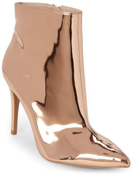 Wild Diva Rose Gold Akira Pointed Toe Ankle Booties