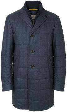 Canali single-breasted quilted coat